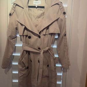 BCBG Tan Trench Coat